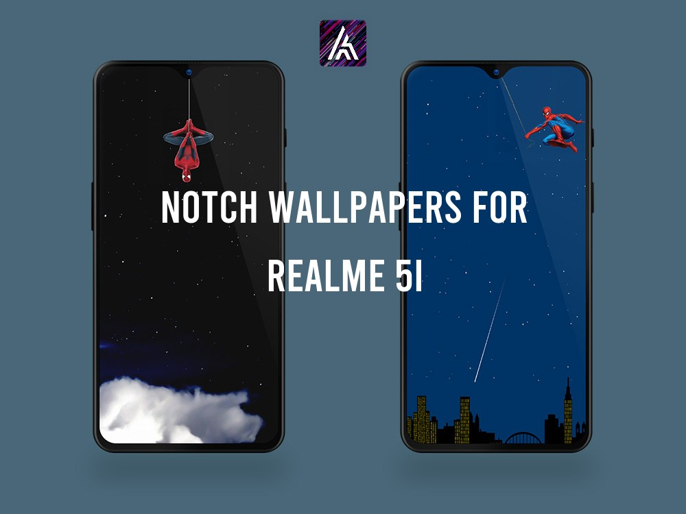Realme 5i notch punch hole wallpapers